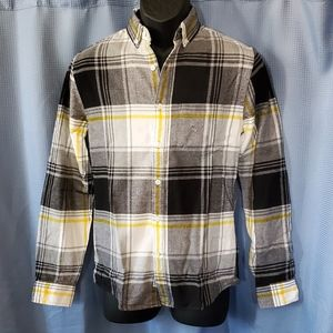NWT EXPRESS Slim Plaid Flannel Button-Down Shirt